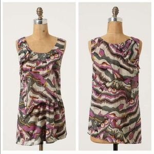 Anthropologie Flounced and Draped Blouse